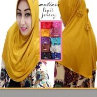 Jilbab Instan Mutiara Lipit / Jilbab Pita 3 Minni