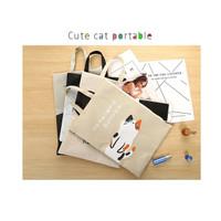 PF05 Japanese Cute Cat Portable A4 file Storage pouch bag Tempat Buku