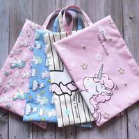 PF06 Dream Unicorn Portable A4 file Storage pouch bag Tempat Buku Al