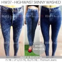 Preloved - Miss Hotty Washed Acid Blue Celana Panjang Jeans Wanita BKK