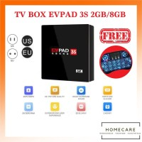 HC TV Box EVPAD 3s 2GB/8GB Android 6K OctaCore Full Free Channel