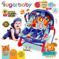 Sugar Baby Bouncer 10in1 Kursi Bayi / Premium Baby Rocker - Wooden