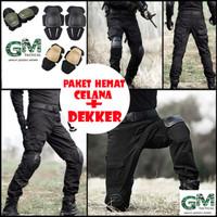 Paket Hemat Celana Tactical Termasuk Kneepad.Dekker Premium Outdoor