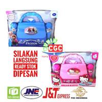 Mainan Double Mic Tas Hello Kitty Bag Frozen Koper SNI