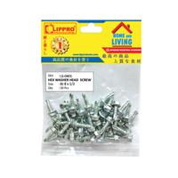 LIPPRO LS-0401 SKRUP BAJA RINGAN 8 x 1/2 - BAUT ROOFING - 50 PCS