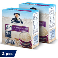 Quaker 3in1 Berry Burst Box 4 Sachets - Twin Pack