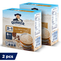 Quaker 3in1 Mocha Box 4 Sachets - Twin Pack