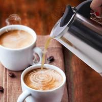 300ml Teko Kopi Moka Pot Stainless Espresso Coffee Maker untuk 6 cup
