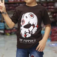 kaos distro anak murah   the punker coklat   kaos anak terbaru