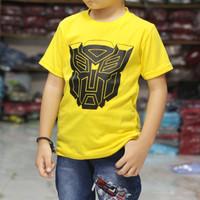 kaos distro anak   transformers kuning  kaos anak murah