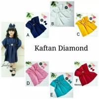 Baju Kaftan Anak perempuan/ Baju lebaran anak/ Baju gamis anak