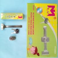 Kunci Kaca 2 Gigi / Kunci Etalase Kaca / Sliding Glass Lock