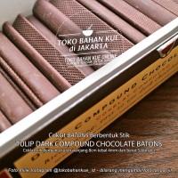 PREMIUM COCOA Batons Coklat Chocolate Couverture Sticks Tulip EOC SZBZ