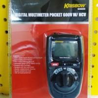 KRISBOW DIGITAL MULTIMETER POCKET 600V W/ NCV 10206559