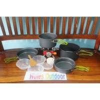 Paket Hemat Cooking set / Nesting DS 301 & Kompor Outdoor Redbird SSAB