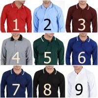PROMO Kaos Polo Shirt Kerah Lengan Panjang Baju Pria Cowok Keren SSMZ
