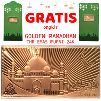 Tiaria Goldbar THR Amplop Lebaran Logam Mulia Emas Murni 24K 0.1g Vol3