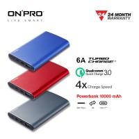 ONPRO MB-IX10 Power Bank 10000 mAH Quick Charge 3.0