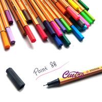 Harga stabilo point 88 fineliner marker pen 0 4 mm pena bolpen warna | antitipu.com