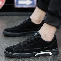 HVN Sepatu Sneakers Lace Up Bahan Suede untuk Olahraga