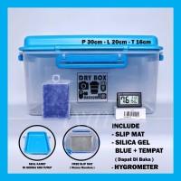 Harga dry box drybox medium silica gel plus tempat hygrometer slip   antitipu.com
