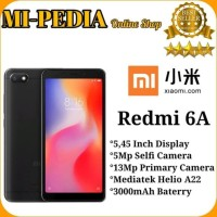 Xiaomi Redmi 6A Ram 2Gb Internal 16Gb Garansi Distributor 1Thn - Black