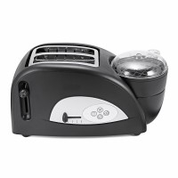 New Brand 2 In 1 Stainless Toaster and Egg Cooker Breakfast Wide Slot