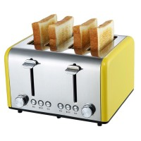 New Brand 4 Slice Wide Slots Stainless Steel Electric Toaster Bread