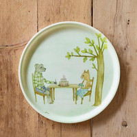 LINEN COATING TRAY ROUND FOREST Duplicate