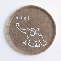 Kids Tray Round Elephant