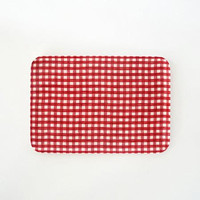 Linen Tray Red White Check M