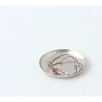 Silver Plated Iron Plate Medium