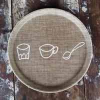 Kids Tray Round Cutlery
