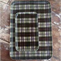 Linen Tray Green Plaid M