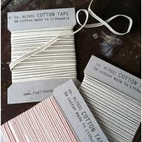 Fog Linen Cotton Ribbon Navy Stripe