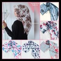 Hijab Segi3 Instan / Segi Empat Instan Motif / Square Motif / Jilbab