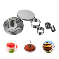 Cetakan Round Cookie Biscuit Cutter Set 12 Circle Pastry Donut