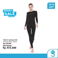 Tiento Wetsuit Basic Black Swimwear Women Pakaian Renang Diving Wanita