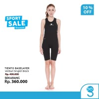 Tiento Wetsuit Singlet Black Baju Celana Pakaian Renang Diving Wanita