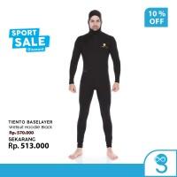 Tiento Wetsuit Hoodie Black Swimwear Pakaian Renang Diving Pria