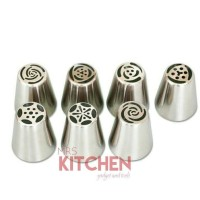HOT SALE Rusia Spuit Russian Nozzles Pipping Tips set of 7 tipe A