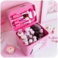 Busana Portabel Kosmetik Kotak Makeup Travel Kosmetik Tas Wanita Lapis