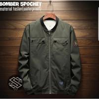 Jaket Bomber 5 Saku, Tahan Air Original Hijau