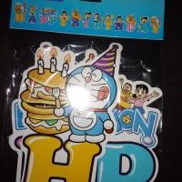 Banner Happy Birthday Doraemon ukuran Besar
