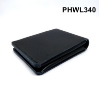Dompet kulit asli design unik warna hitam simple wallet - PHWL340