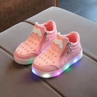 Sepatu Anak Perempuan Sepatu Anak LED Pretty Shoes Import Lucu Nyaman