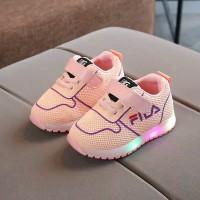 Sepatu Anak Laki Laki Perempuan Led Import Sepatu Sneaker Simple Lucu