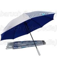 payung golf jumbo warna perak silver umbrella big besar color murah