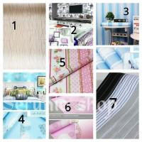Wallpaper sticker dinding ukuran 45 cm x 10 m