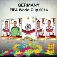 Kartu Bola Fezballer Cards tim nasional GERMANY World Cup 2014 Brazil